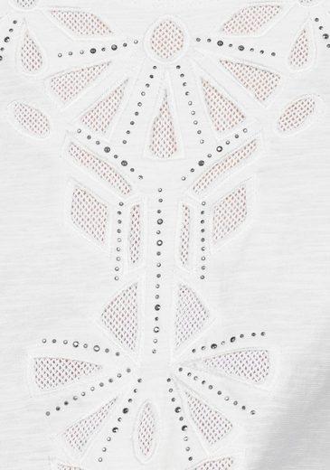 Basler Rundhalsshirt, mit Stickerei