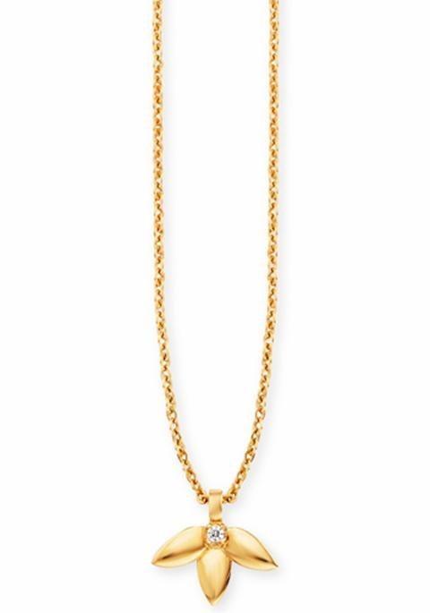 CAÏ Kette mit Anhänger »C1736N/90/93/45« mit Topas in Silber 925-goldfarben