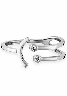 CAÏ Silberring »Smileys, C7255R/90/03« mit Zirkonia in Silber 925