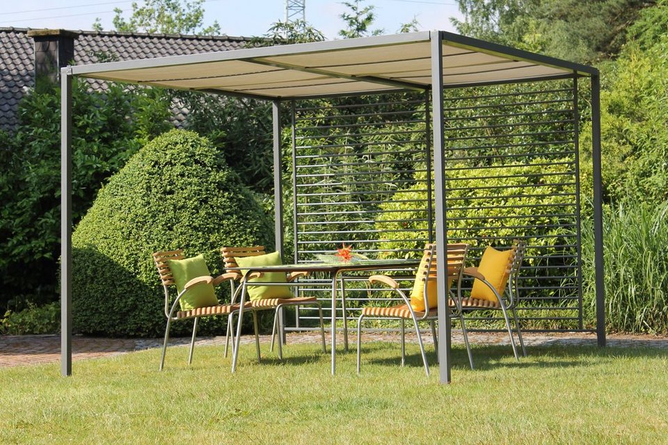 leco pergola modern style bxl 280x280 cm lichtgrau online kaufen otto. Black Bedroom Furniture Sets. Home Design Ideas