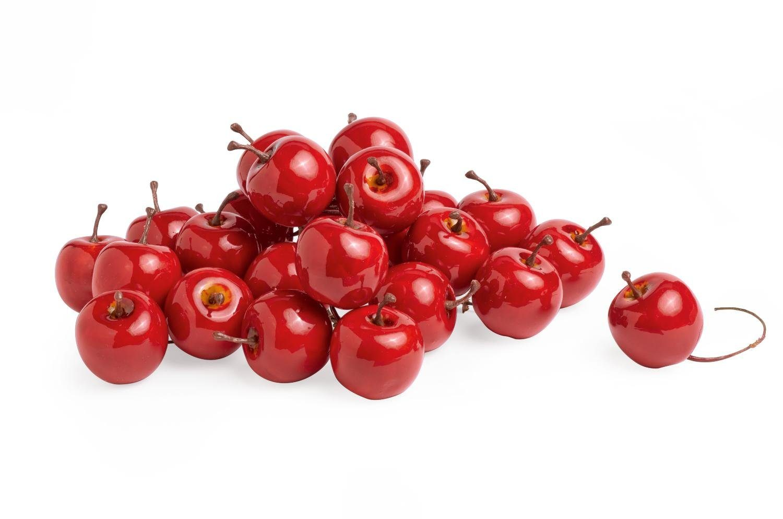 Deko-Äpfel am Draht