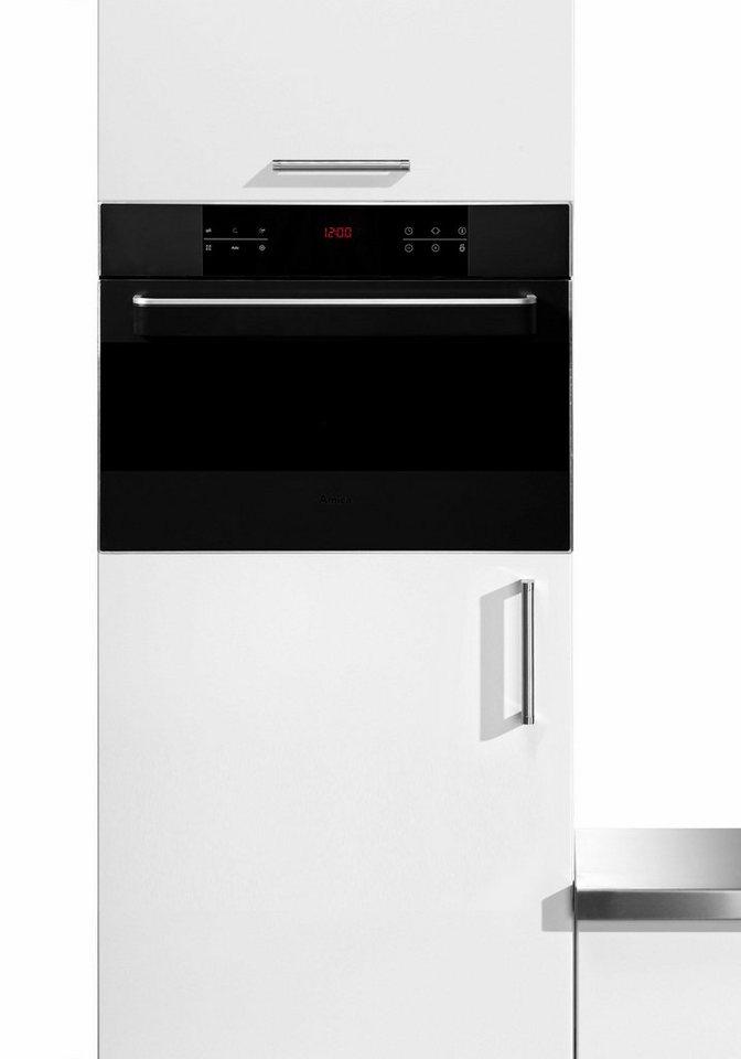 Amica Kompakt-Einbaubackofen EBC 63401 S, mit Mikrowellenfunktion in schwarz matt