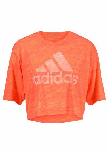 adidas Performance T-Shirt BOXY CROP TEE AEROKNIT
