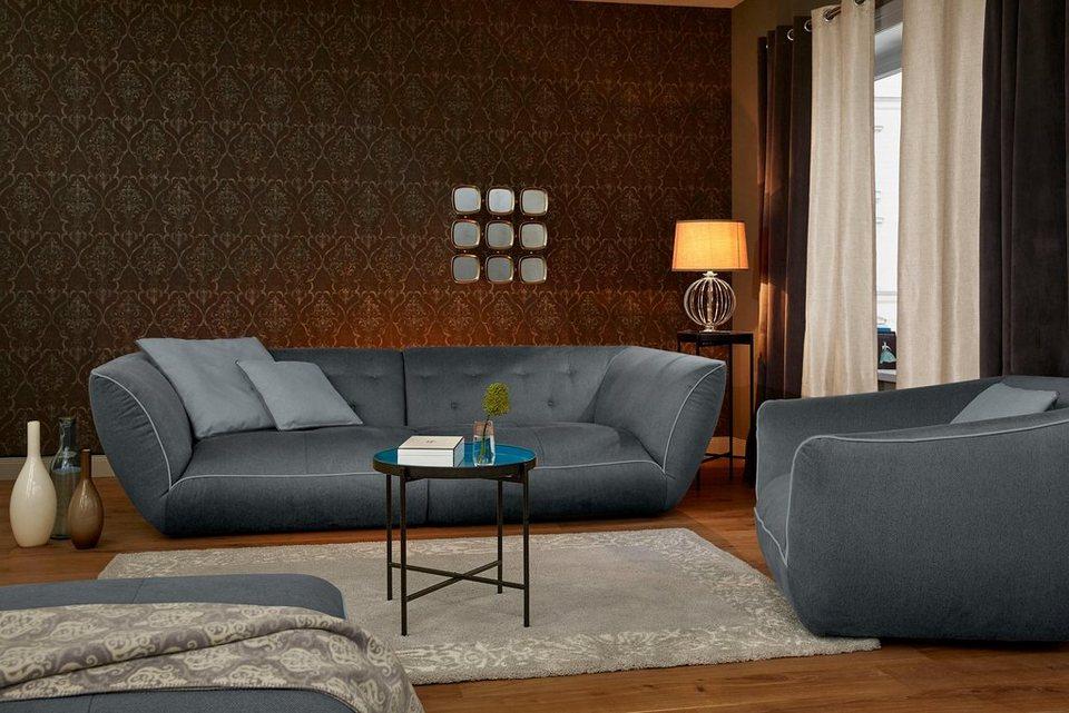 GMK Home & Living Ultrasofa, inklusive Zierkissen in graphit/grau