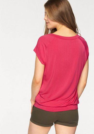 LASCANA V-Shirt mit breitem Bund (2 Stück)