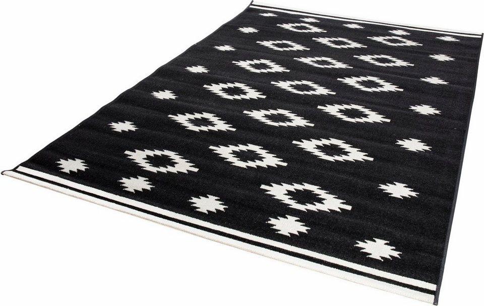Teppich, Andiamo, »Nook«, gewebt in schwarzcreme