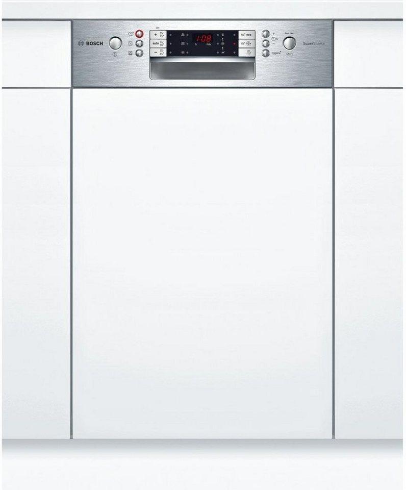 BOSCH Teilintegrierbarer Geschirrspüler SPI65T75EU, A++, 8,5 Liter, 9 Maßgedecke in silberfarben