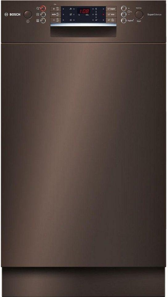 BOSCH Unterbaugeschirrspüler SPD69T84EU, A+++, 9,5 Liter, 10 Maßgedecke in braun