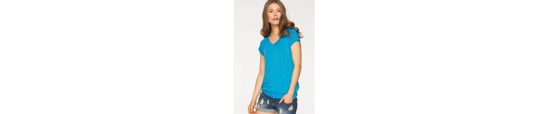 LASCANA Viskose-Shirt mit breitem Bund Neue Ankunft Art Und Weise Spielraum Offizielle Seite OB8OZ