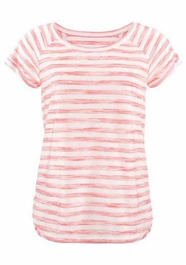 Beachtime T-Shirts (2 Stück) mit modischem Melange-Streifen