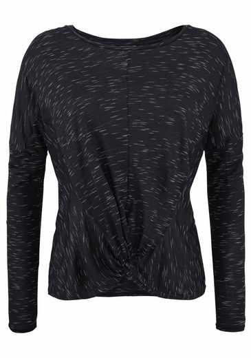 LASCANA Langarmshirt, mit moderner Knotenoptik am Saum