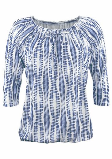LASCANA Shirts (2 Stück) mit gerafftem Ausschnitt