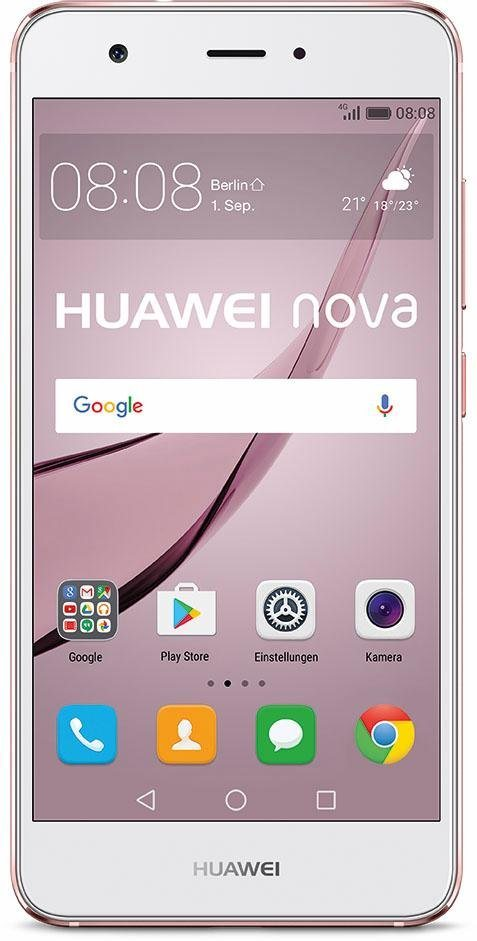 Huawei P9 Lite Smartphone, 13,2 cm (5,2 Zoll) Display, LTE (4G), Android 6.0 (Marshmallow) in rosé-goldfarben