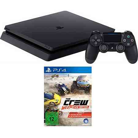PlayStation 4 (PS4) 500 GB + The Crew Wild Run Edition Konsolen-Set