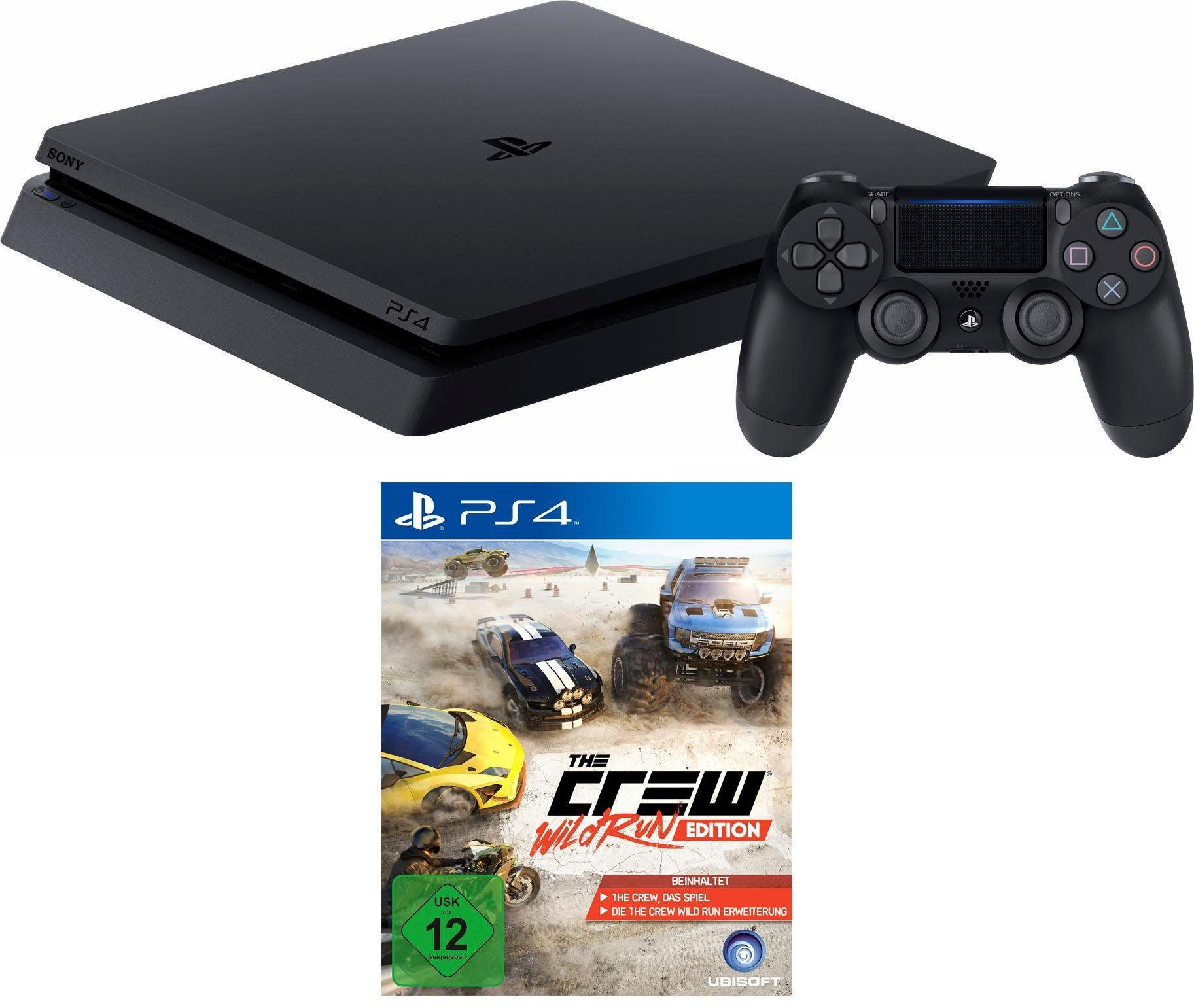 PlayStation 4 (PS4) 500 GB + The Crew Wild Run Edition Konsolen-Set