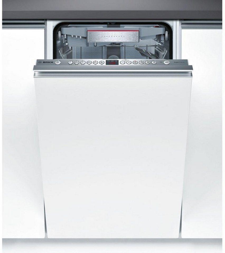 BOSCH Vollintegrierbarer Einbaugeschirrspüler SPV69T80EU, A+++, 9,5 Liter, 10 Maßgedecke in silberfarben