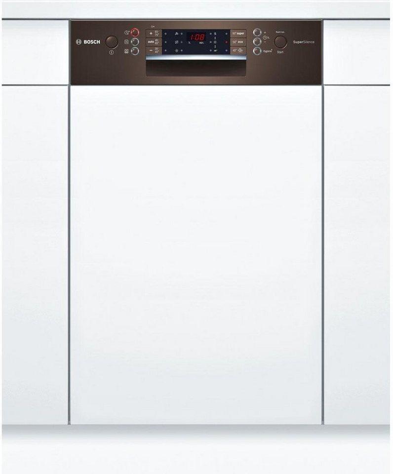 BOSCH Teilintegrierbarer Geschirrspüler SPI69T84EU, A+++, 9,5 Liter, 10 Maßgedecke in braun
