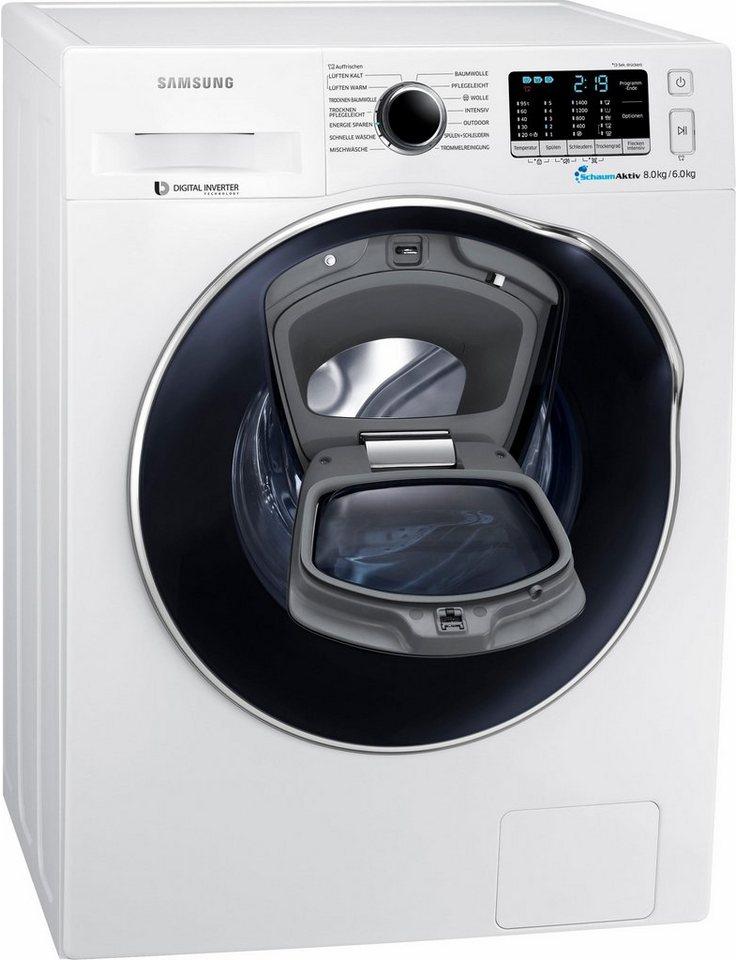 Samsung Waschtrockner WD5500 AddWash WD80K5400OW/EG, A, 8 Kg / 6 Kg,