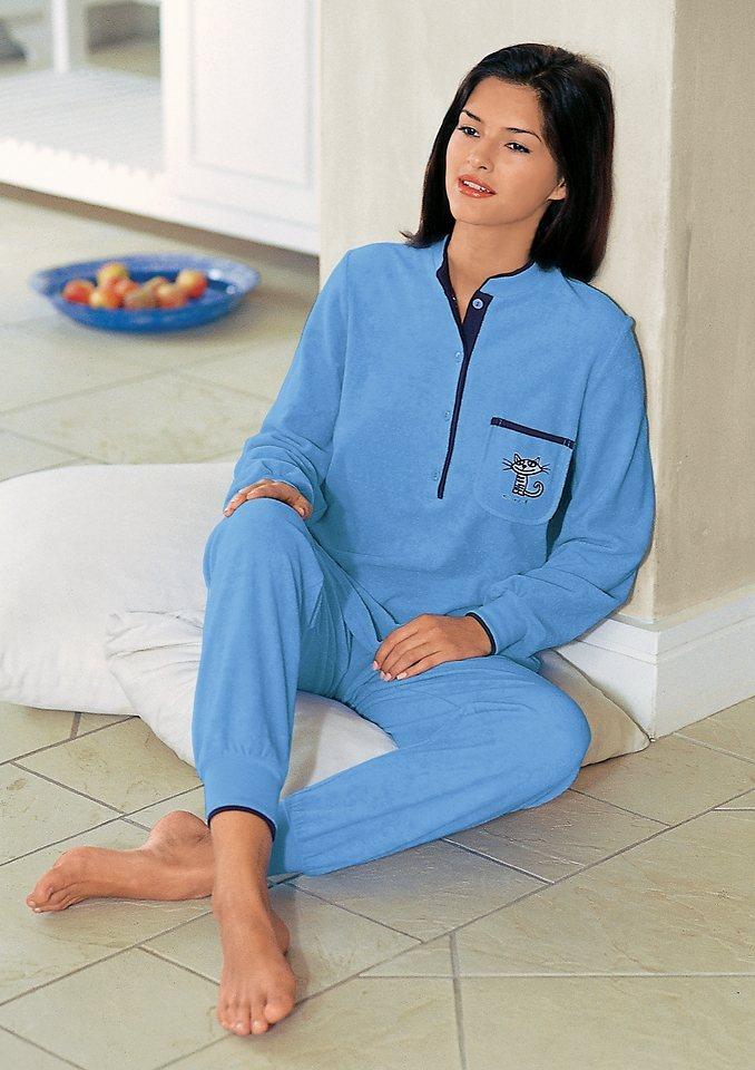 Schlafanzug, Ringella, Single-Jersey in hellblau