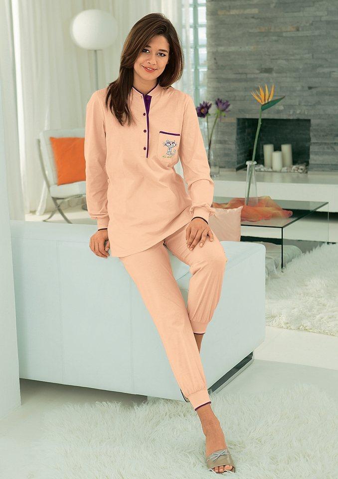 Schlafanzug, Ringella, Single-Jersey in apricot