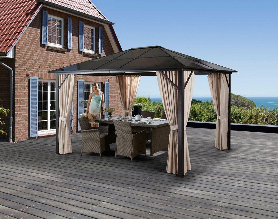 Komplett-Set: Pavillon »Aruba«, mit Seitenteilen, BxT: 300x400 cm in braun