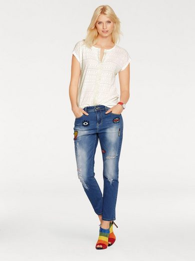 B.C. BEST CONNECTIONS by Heine Boyfriend-Jeans mit Patches