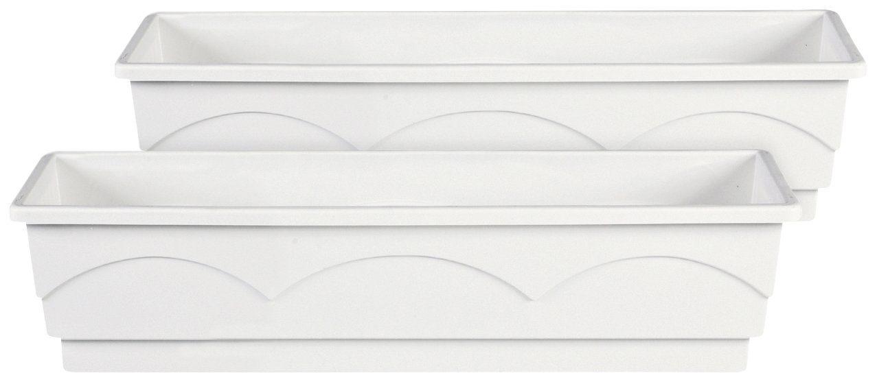 Emsa Blumenkasten »LAGO«, 2er-Set, BxTxH: 75x22x18 cm, weiß