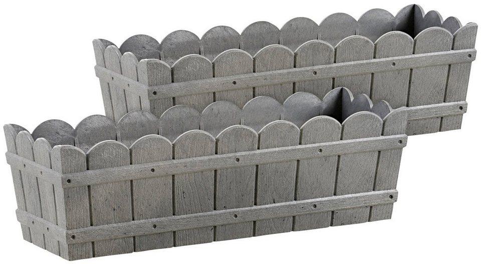 blumenkasten country 2er set bxtxh 50x17 5x15 5 cm. Black Bedroom Furniture Sets. Home Design Ideas