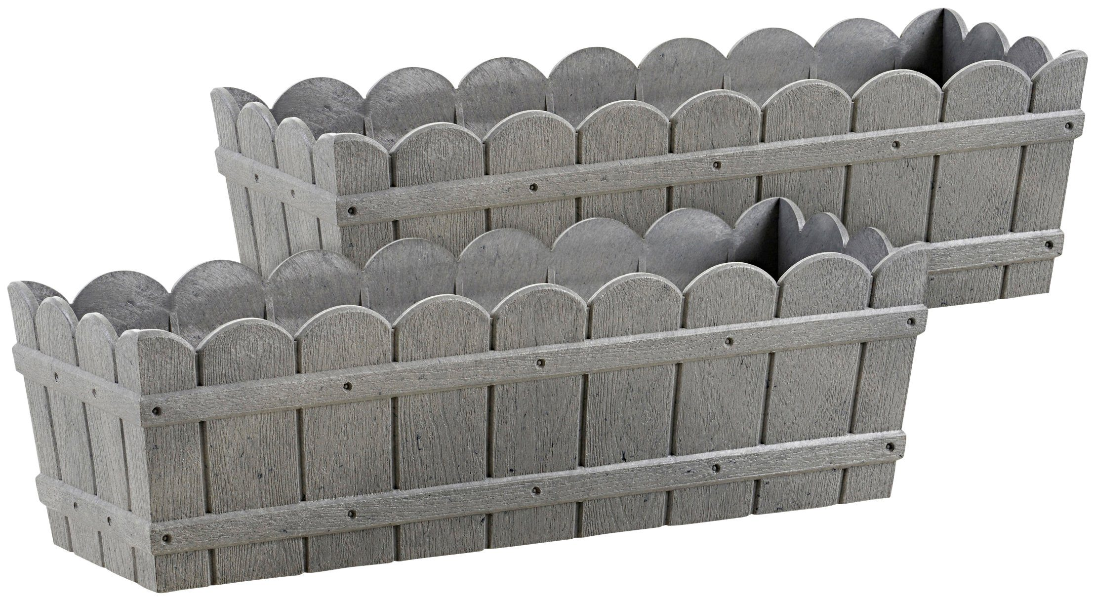 Emsa Blumenkasten »COUNTRY«, 2er-Set, BxTxH: 50x17,5x15,5 cm, grau