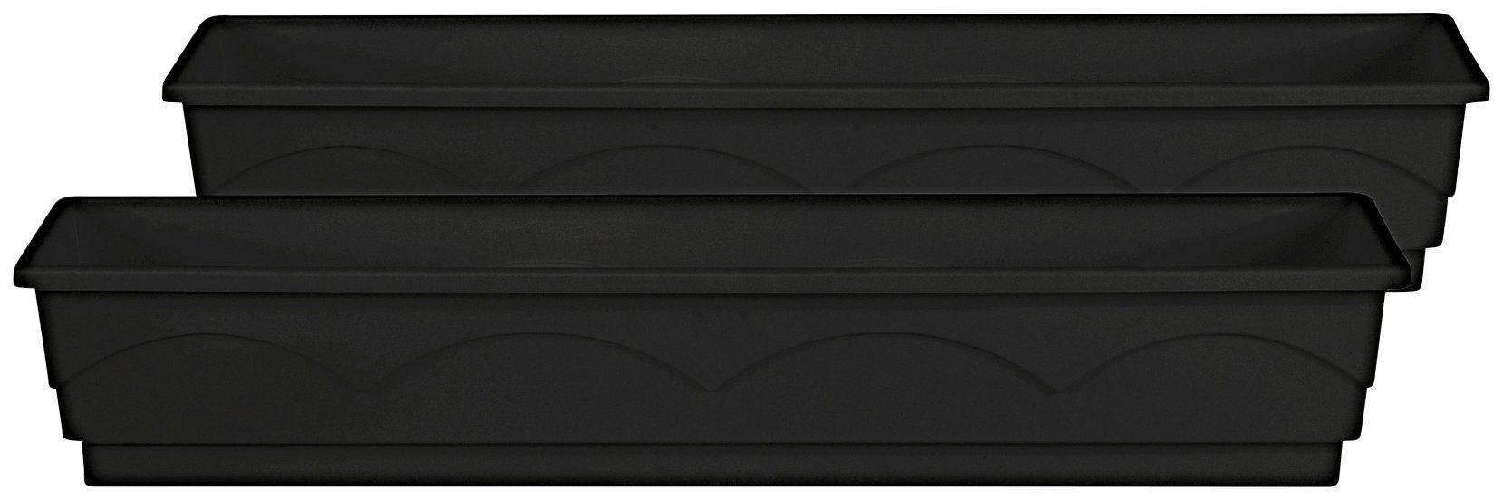 Emsa Blumenkasten »LAGO«, 2er-Set, BxTxH: 100x22x18 cm, anthrazit