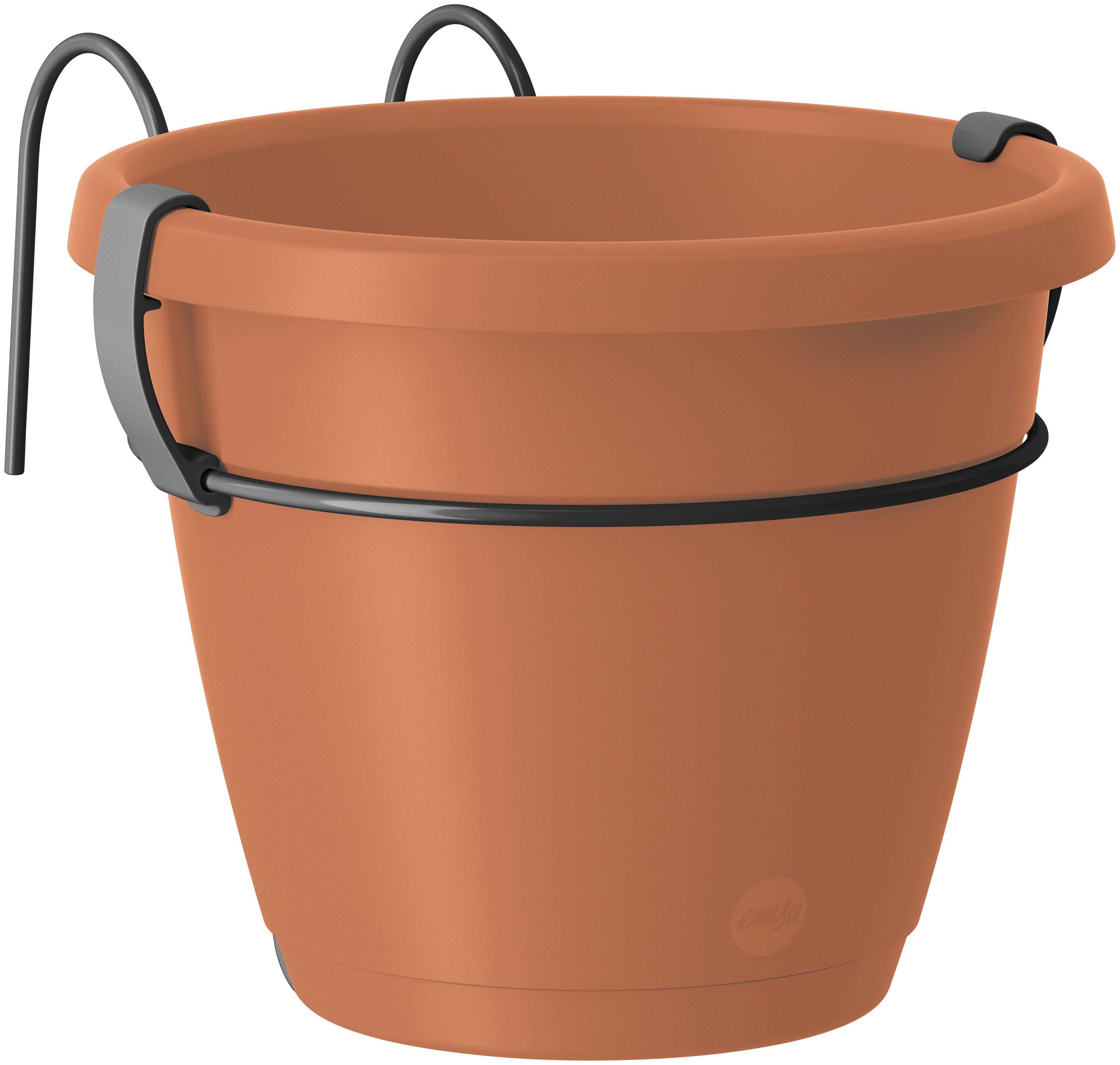 EMSA Set: Blumenkasten »CITY Hängetopf«, 3 tlg., 2x Ø 20 cm und 1x Ø 40 cm