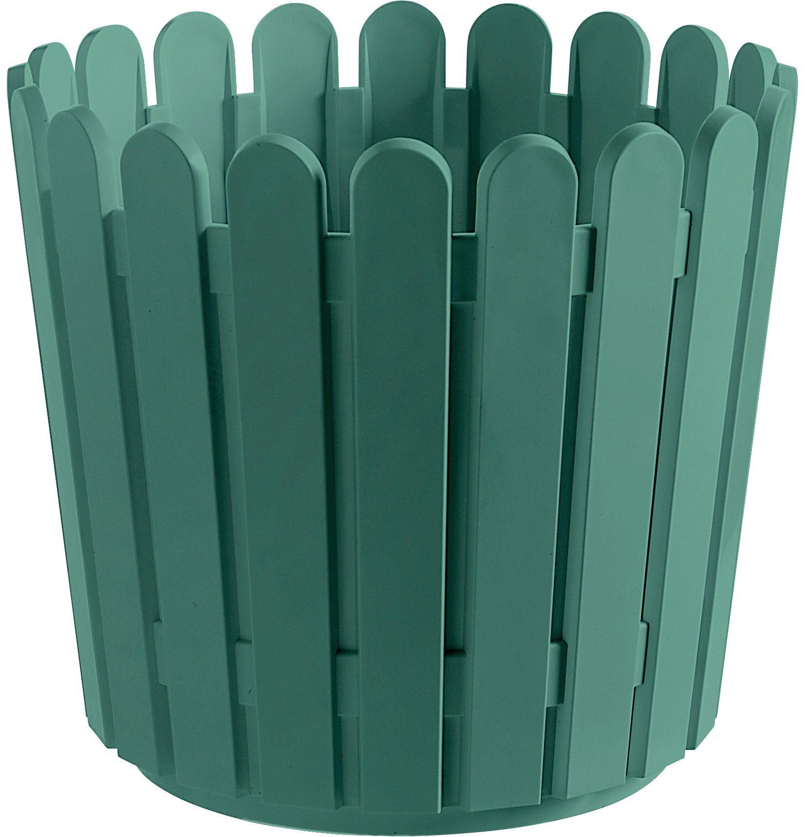 Blumenkasten »LANDHAUS«, Ø/H: 30/27 cm, türkis-grün