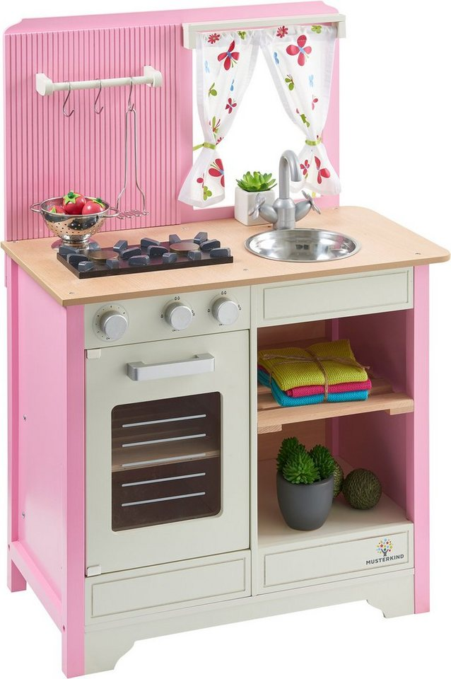 musterkind spielk che aus holz lavandula creme rosa. Black Bedroom Furniture Sets. Home Design Ideas
