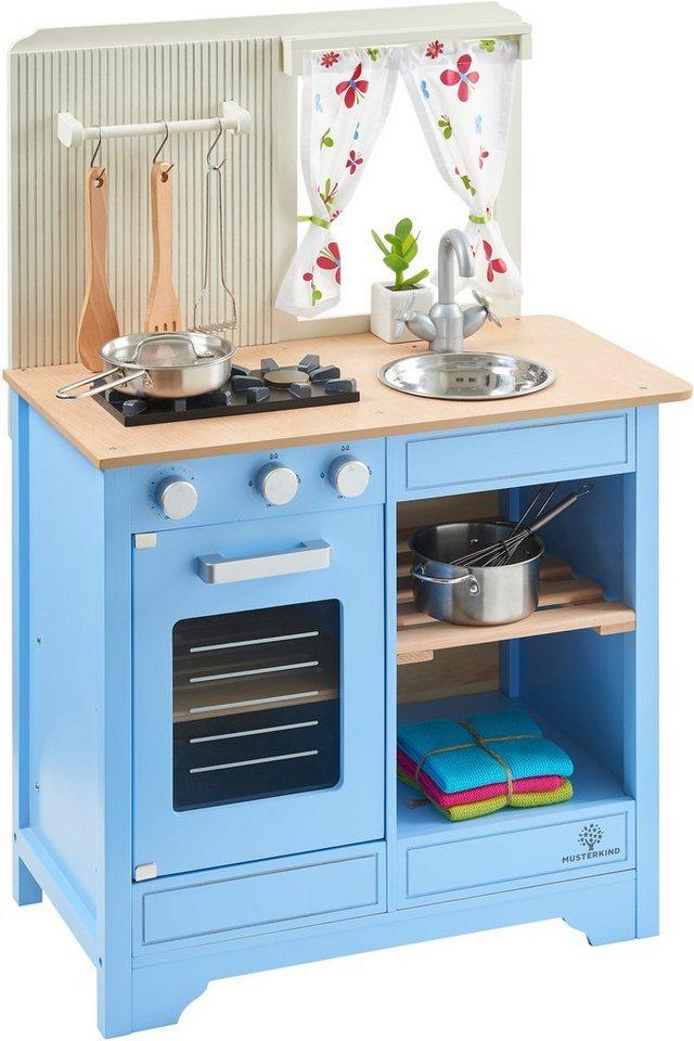 musterkind spielk che aus holz lavandula creme blau online kaufen otto. Black Bedroom Furniture Sets. Home Design Ideas