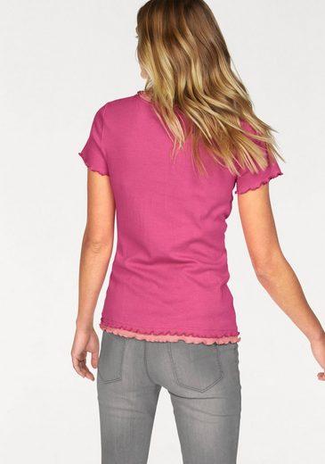 Flashlights V-Shirt (Packung, 2er-Pack), Shirt in Doppellagenoptik