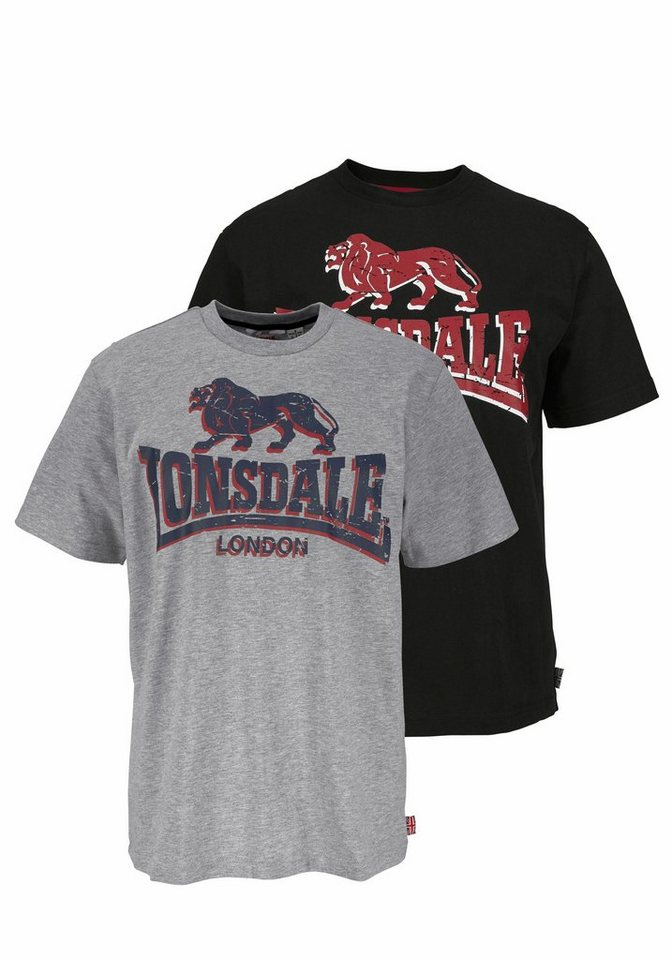 lonsdale t shirt packung 2 tlg online kaufen otto. Black Bedroom Furniture Sets. Home Design Ideas