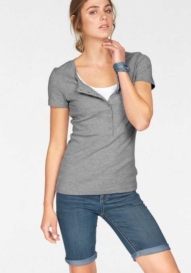 Flashlights 2-in-1-Shirt (Packung, 2 tlg.) in grau-weiß