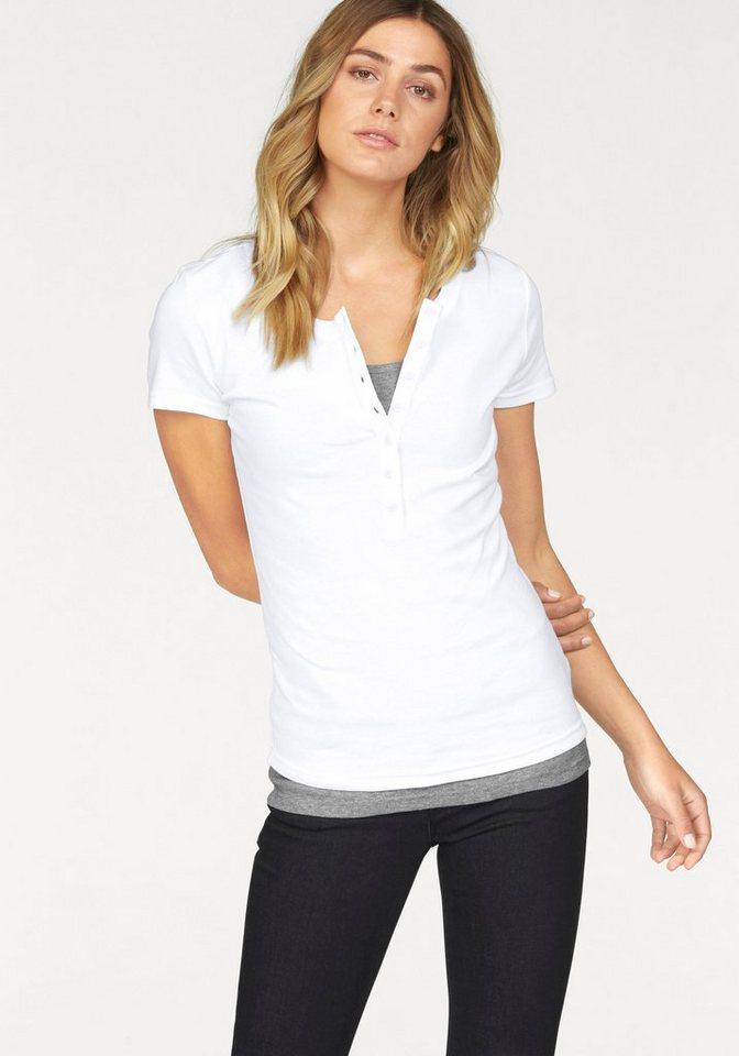 Flashlights 2-in-1-Shirt (Packung, 2 tlg.) in weiß-grau