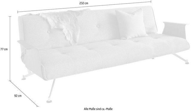 Sofas - INNOVATION™ Schlafsofa »Clubber«, mit modernen Armlehnen in Walnuß  - Onlineshop OTTO