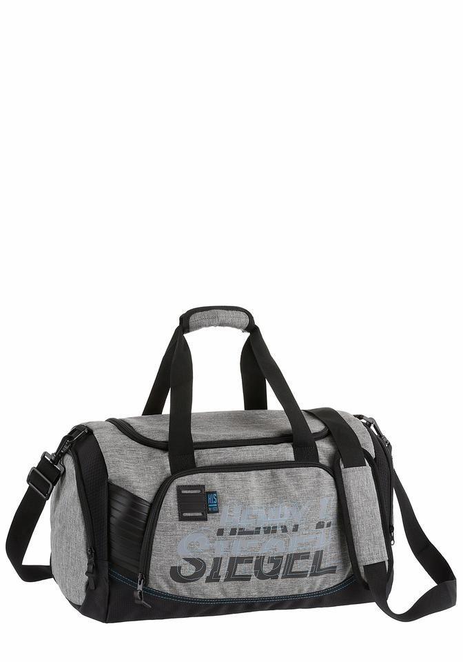 H.I.S Weekender mit viel Stauraum in grau-schwarz-blau