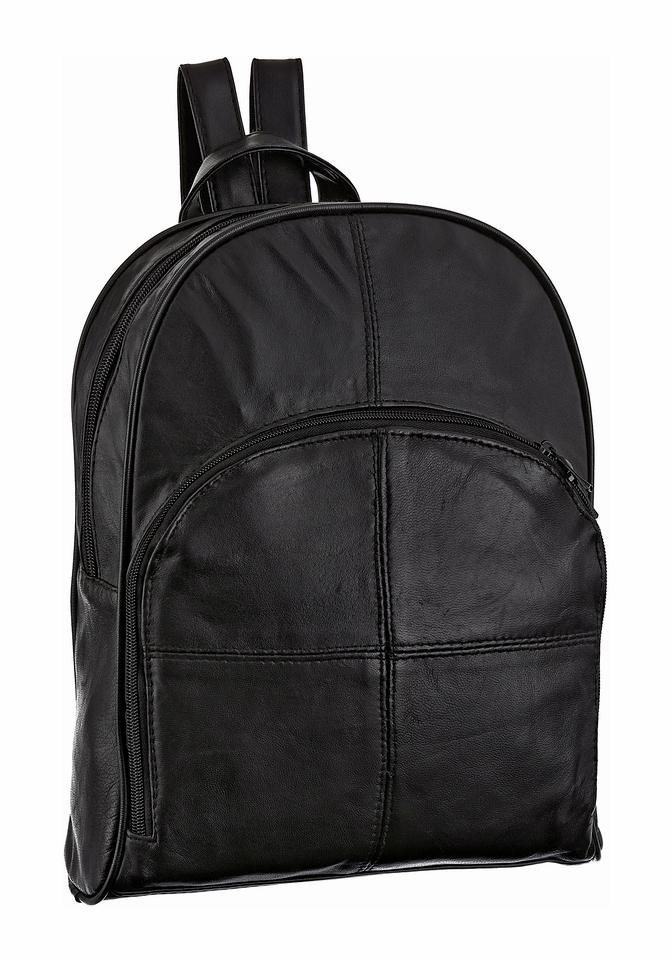 J. Jayz Cityrucksack aus Leder in schwarz