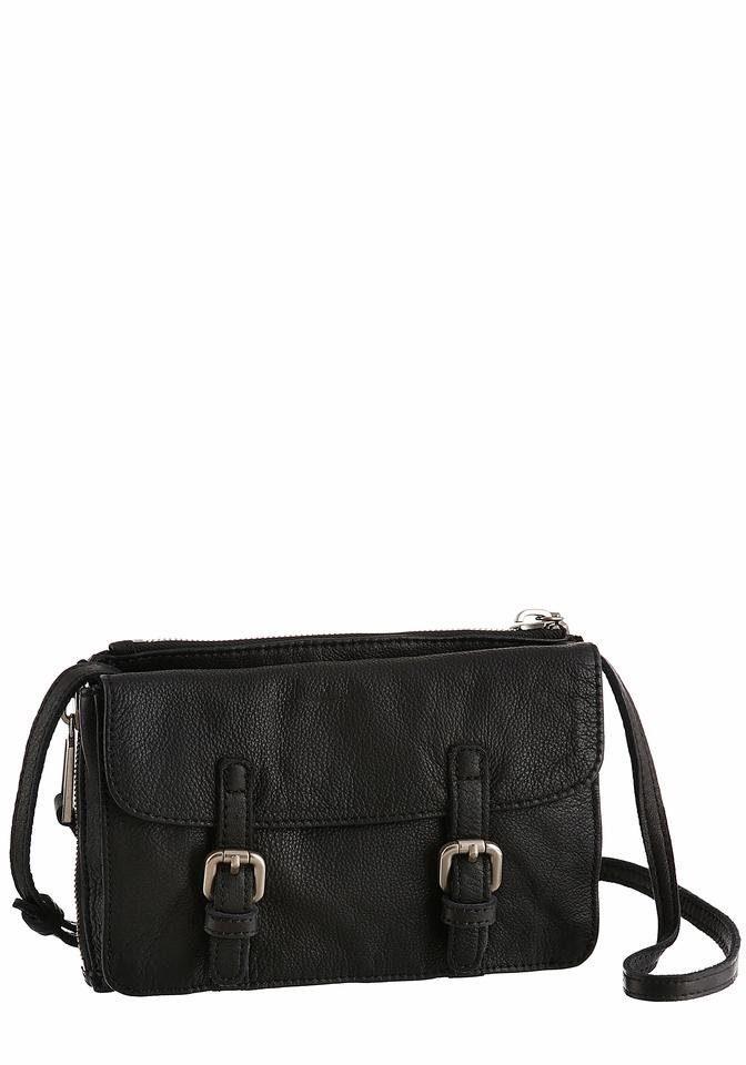 Marc O'Polo Umhängetasche »THREE«, Mini Bag aus Leder mit Zierschnallen