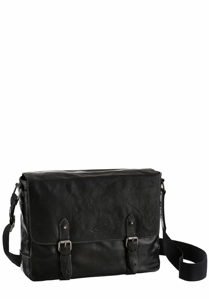 camel active Messenger Bag »KANSAS«, mit gepolstertem Laptopfach aus hochwertigen Leder
