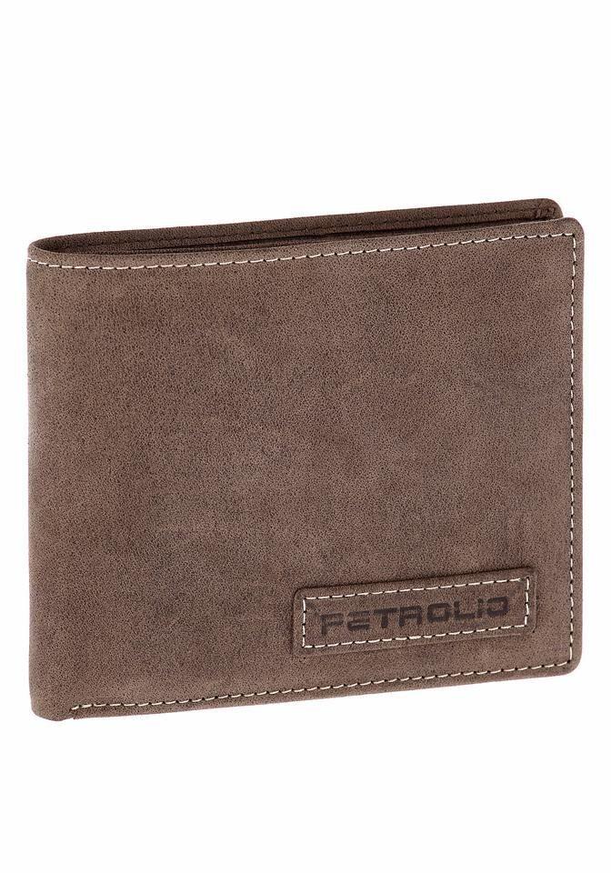 PETROLIO Geldbörse, aus hochwertigem Leder in praktischer Geschenkbox