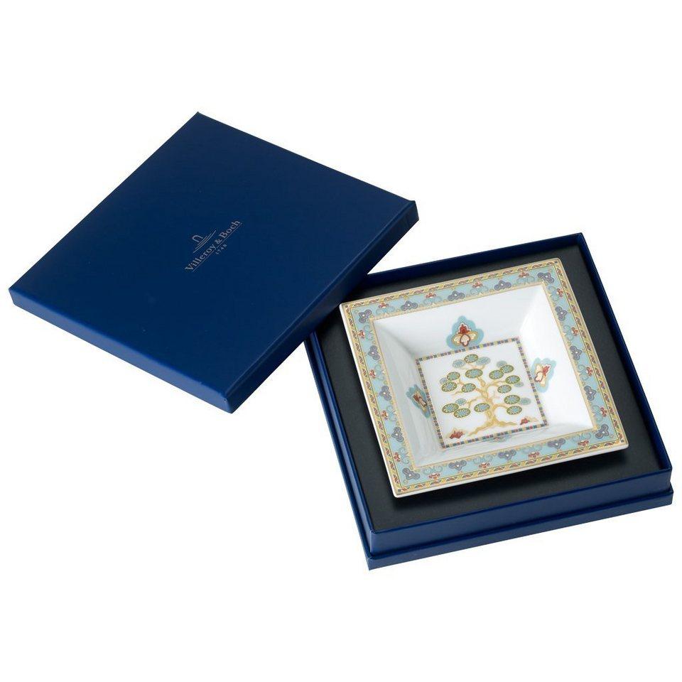 VILLEROY & BOCH Schale Quadrat 14x14cm »Samarkand Aquamarin« in Dekoriert