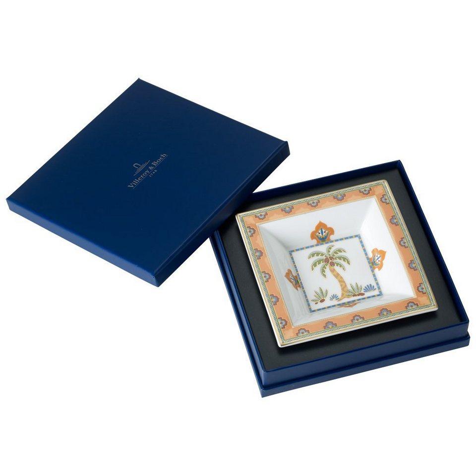 VILLEROY & BOCH Schale Quadrat 14x14cm »Samarkand Mandarin« in Dekoriert