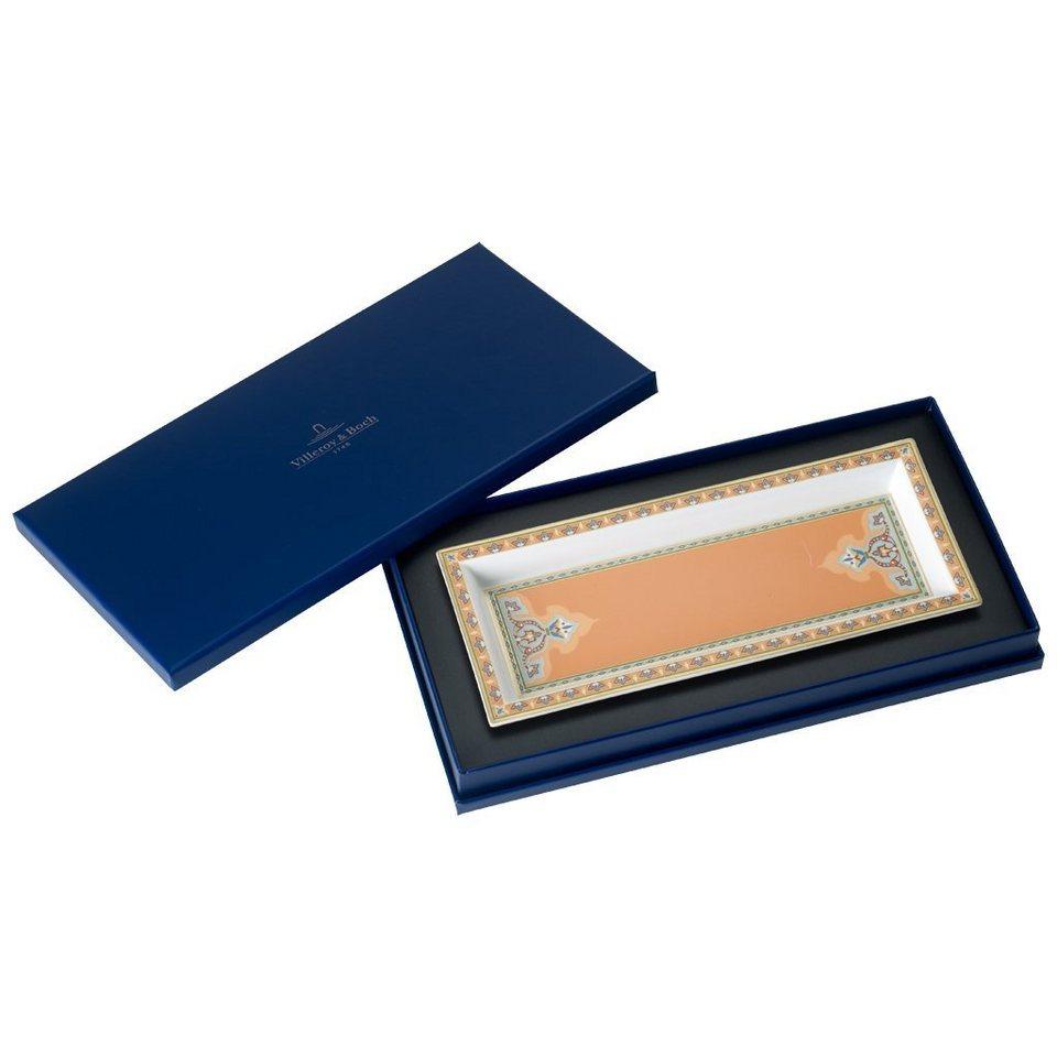 VILLEROY & BOCH Schale rechteckig 25x10cm »Samarkand Mandarin« in Dekoriert