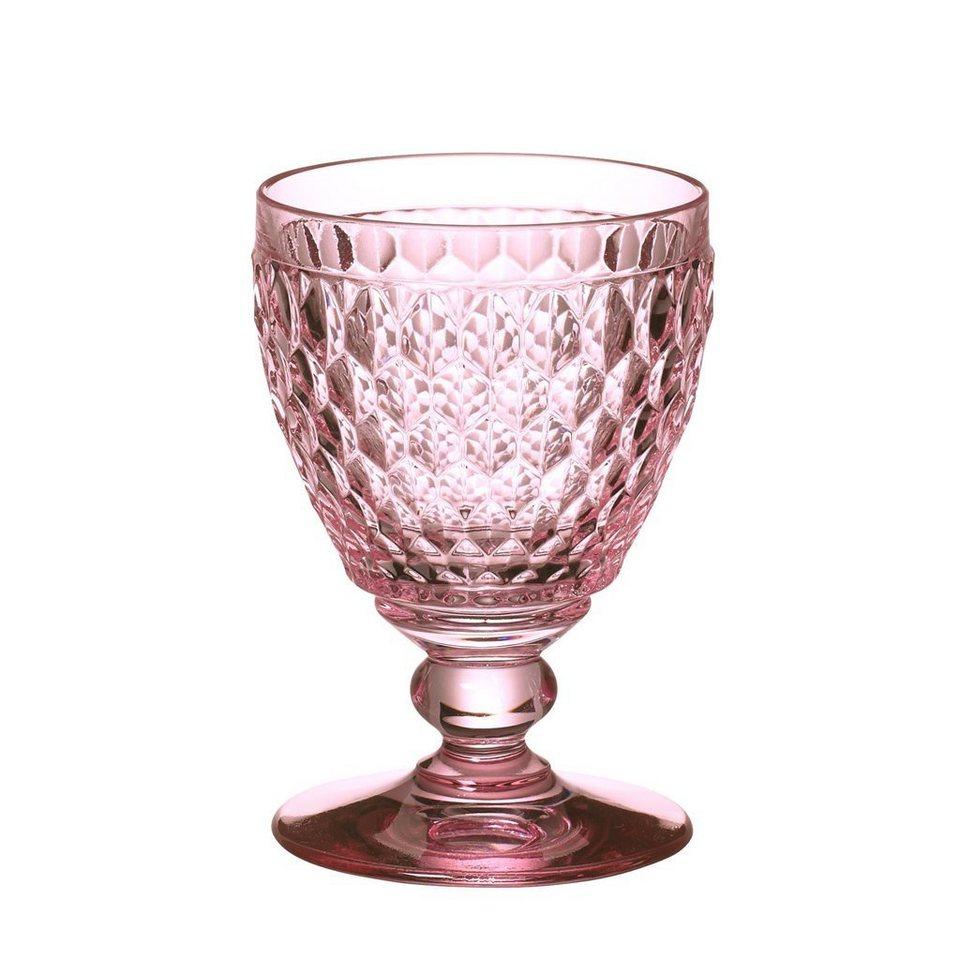 VILLEROY & BOCH Weissweinglas rose 120mm »Boston coloured« in Dekoriert