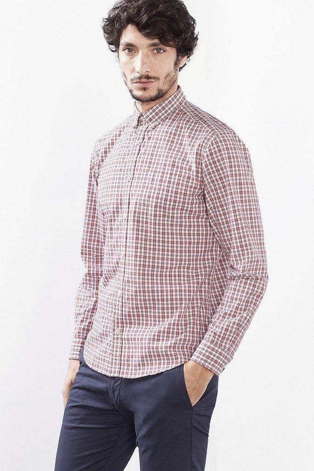 ESPRIT CASUAL Lässiges Karo Hemd, 100% Baumwolle in RED