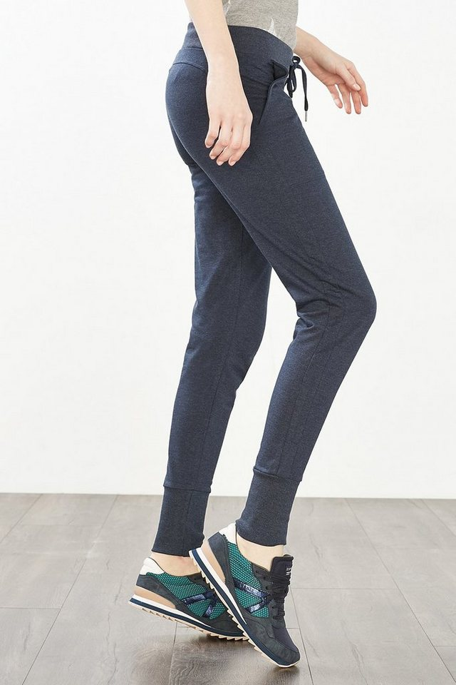 ESPRIT Sport Sweat-Hose aus Baumwoll-Mix in NAVY